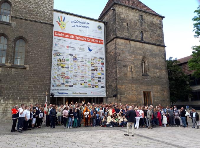 Spendenwette am Rathaus Hildesheim